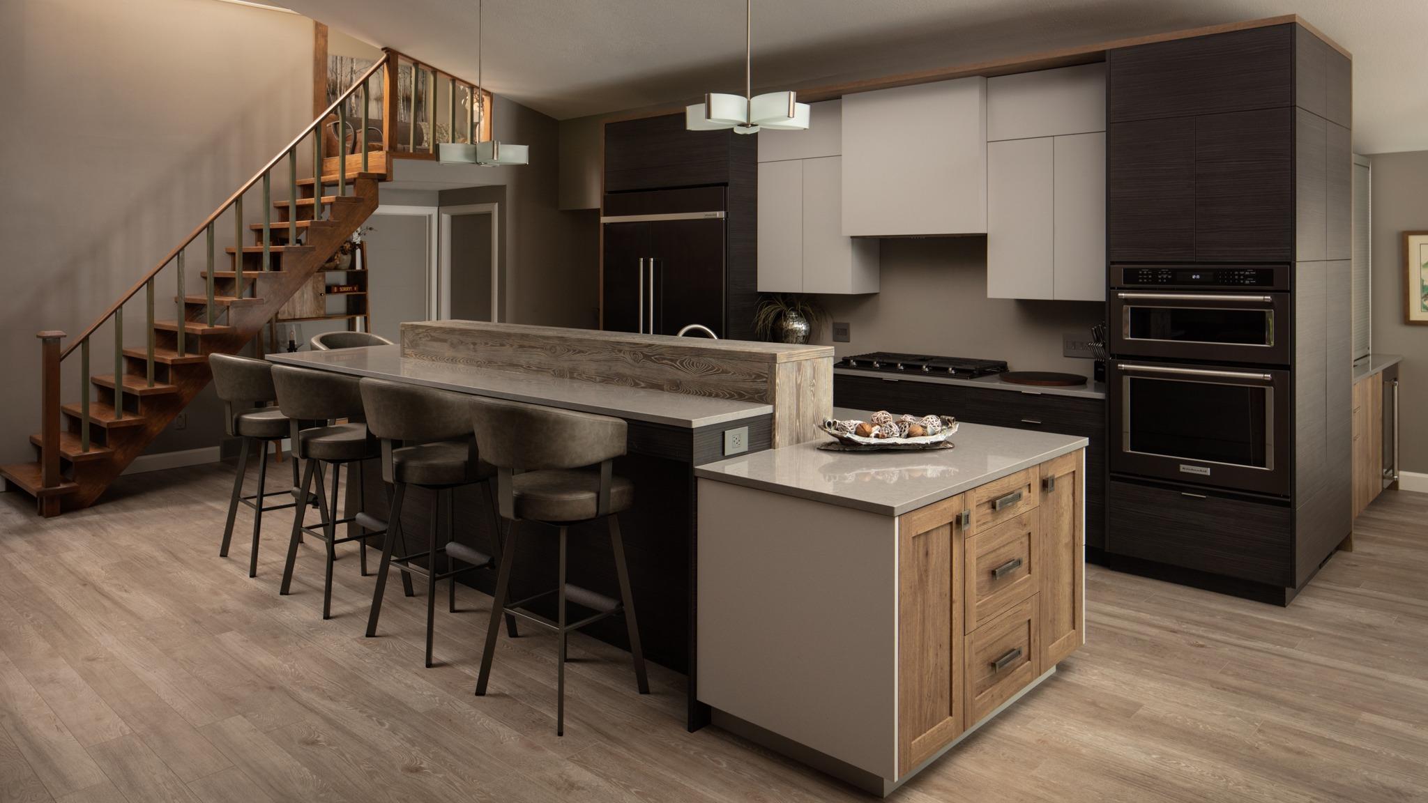 Dark And Bold Kitchen Wayne S Custom Woodcraft Devon Pastorius
